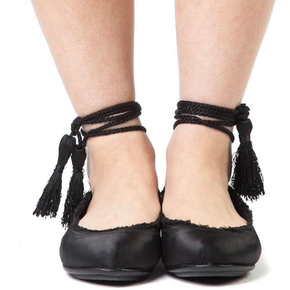 25bfc2c00 Joie Shoes   Satin Lace Up Ballet Flats   Poshmark